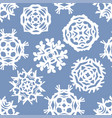 christmas cut out seamless pattern vector image vector image