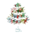 Christmas tree made of gift boxes vector image vector image