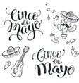 Cinco de mayo phrases vector image vector image