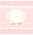 classic romantic invitation design pink vector image