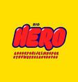 comics super hero style font alphabet letters vector image vector image