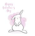 cute rabbit in cartoon style vector image vector image