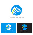 document arrow upload logo vector image