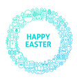 easter line icon circle concept vector image