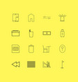 essential linear icon set simple outline icons vector image vector image