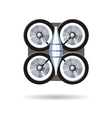 Flying Drone in Flat Design vector image vector image