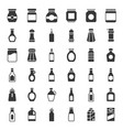 Food and drink container icon set solid style