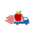 fruit delivery logo icon design vector image vector image