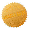 golden angara river award stamp vector image vector image