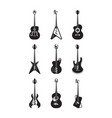 guitars silhouette set acoustic string vector image