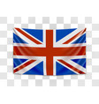 hanging flag great britain united kingdom of vector image vector image