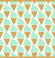 ice cream cone seamless mint blue pattern vector image