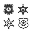 icon police and sheriff badge on white background vector image