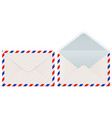 international mail envelope backside closed and vector image vector image