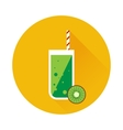 Kiwi shake or juice icon vector image vector image