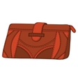 leather wallet vector image vector image