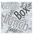 lunch box Word Cloud Concept vector image vector image