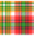madras plaid seamless fabric texture vector image vector image