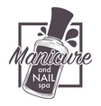 manicure and nail spa polish lacquer sketch logo vector image