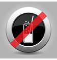 metallic banned button carbonated drink and straw vector image vector image