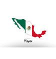 Mexico country flag inside map contour design