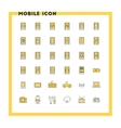 Mobile phone flat design icon set Mobile phone vector image