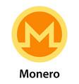 monero icon flat style vector image