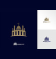 mosque simple icon logo design mosque moslem vector image vector image