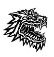 muzzle of a terrible werewolf monster vector image
