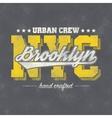new york typography vector image