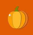 paper cut orange pumpkin cut shapes 3d abstract vector image