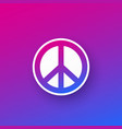 peace sign design vector image