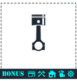 Piston icon flat vector image vector image