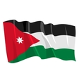 Political waving flag of jordan vector image