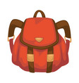 rucksack for traveling or carrying personal vector image vector image