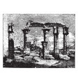 ruins of thebes 18th dynasty vintage engraving vector image vector image