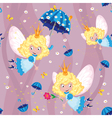 seamless happy fairy vector image vector image