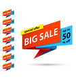 set banners at discount on big sales vector image