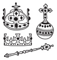 Set of crown jewels vector image