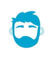silhouette man head with closed eyes and hairstyle vector image vector image