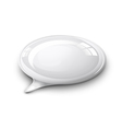 speech bubble white vector image vector image