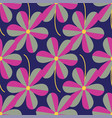 stylized flowers seamless pattern repeat on vector image vector image