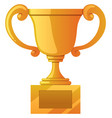 trophy on white vector image