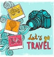 Vacation Photo Background vector image