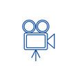 video cinema retro camera line icon vector image