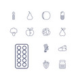 vitamin icons vector image vector image