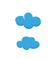 weather cloud isolated icon vector image vector image