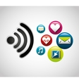 wifi connection signal icons vector image vector image