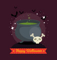 witches cauldron with green potion vector image vector image