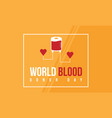 world blood donor day style banner collection vector image